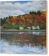 Autumn In Vermont  Wood Print