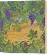 Autumn In Wine Country Wood Print by Carolyn Doe