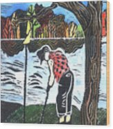 Autumn  Wood Print by Jane Croteau