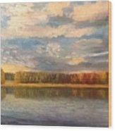Autumn. Lake. Wood Print