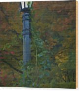 Autumn Lamp Wood Print