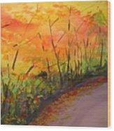 Autumn Lane IIi Wood Print