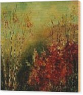 Autumn Lanfscape Wood Print