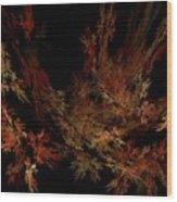 Autumn Leaf Dance Wood Print