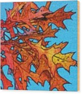 Autumn Leaves 14 Wood Print
