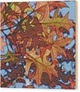 Autumn Leaves 17 - Variation  2 Wood Print
