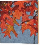 Autumn Leaves 19 Wood Print