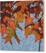 Autumn Leaves 20 Wood Print