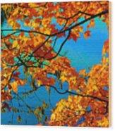 Autumn Leaves 7 Wood Print
