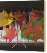 Autumn Leaves - A Love Song Wood Print