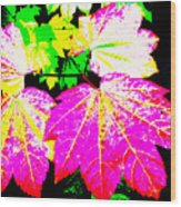 Autumn Leaves Holiday Style Wood Print