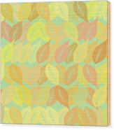 Autumn Leaves Pattern Wood Print