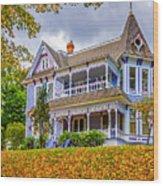 Autumn Mansion Wood Print