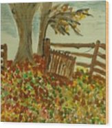 Autumn Wood Print by Marie Bulger