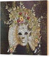 Autumn Mask Wood Print