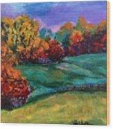Autumn Meadow Wood Print