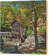 Autumn Mill 2 Wood Print