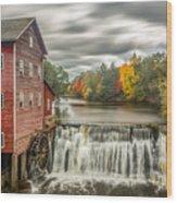 Autumn Mill Wood Print