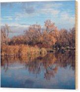 Autumn Mirror Wood Print