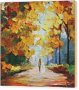 Autumn Mood Wood Print