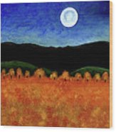 Autumn Moon I Wood Print