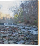 Autumn Morning Along The Wissahickon Creek Wood Print