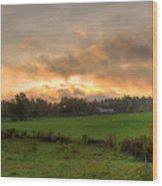 Autumn Morning Wood Print by David Bishop
