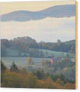 Autumn Morning In Peacham Vermont Wood Print