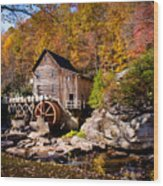 Autumn Morning In West Virginia Wood Print