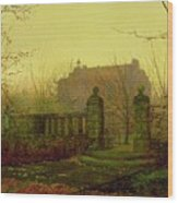 Autumn Morning Wood Print by John Atkinson Grimshaw