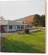 Autumn Mountain Golf Course 6 Wood Print