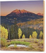 Autumn Mountain Landscape, Colorado, Usa Wood Print