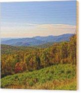 Autumn Mountains Wood Print