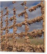 Autumn Net Wood Print