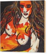 Autumn Nude Wood Print