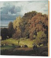 Autumn Oaks , George Inness Wood Print