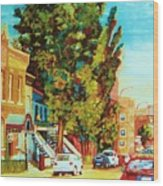 Autumn On Bagg Street Wood Print