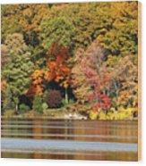 Autumn On Canoe Brook Lake Wood Print