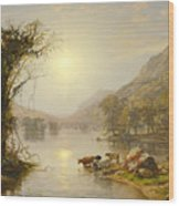 Autumn On Greenwood Lake Wood Print
