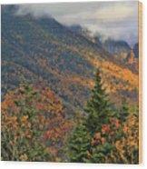 Autumn On Mount Mansfield Vermont Wood Print