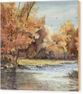 Autumn On The Buffalo Wood Print