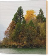 Autumn On The Columbia Wood Print
