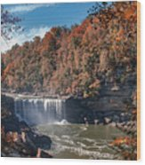 Autumn On The Cumberland  Cumberland Falls Wood Print