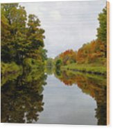 Autumn On The Erie Canal Wood Print