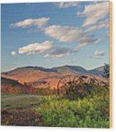 Autumn On The Farm Panorama Wood Print