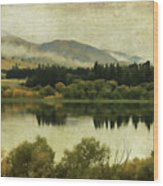 Autumn On The Lake Wood Print