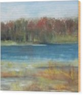 Autumn On The Maurice River Wood Print