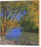 Autumn On The North Raccoon Wood Print