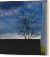 Autumn On The Road To Oringe Wood Print