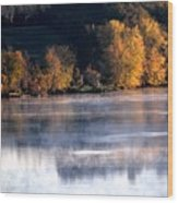 Autumn On Wisconsin River Wood Print